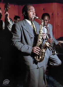 Charlie Parker con cancion de saxofon